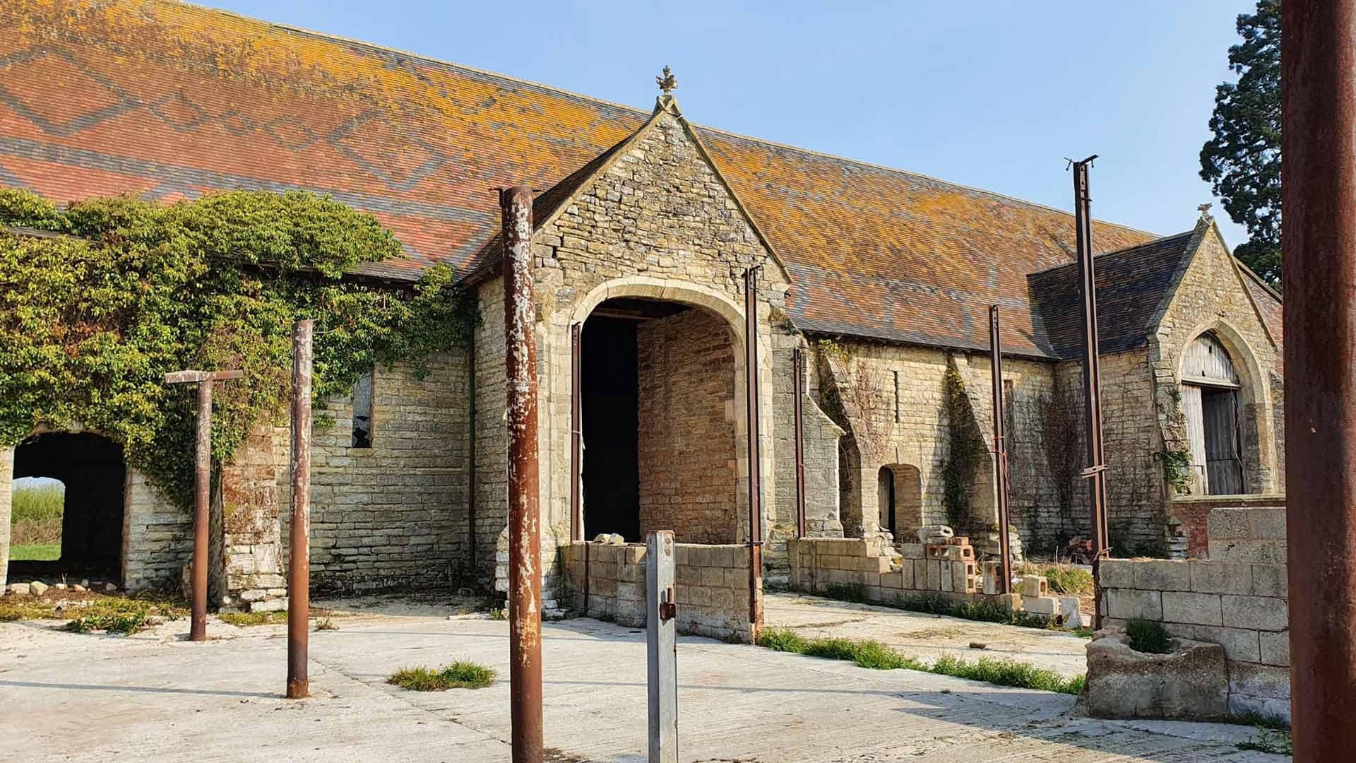 barn front entrance