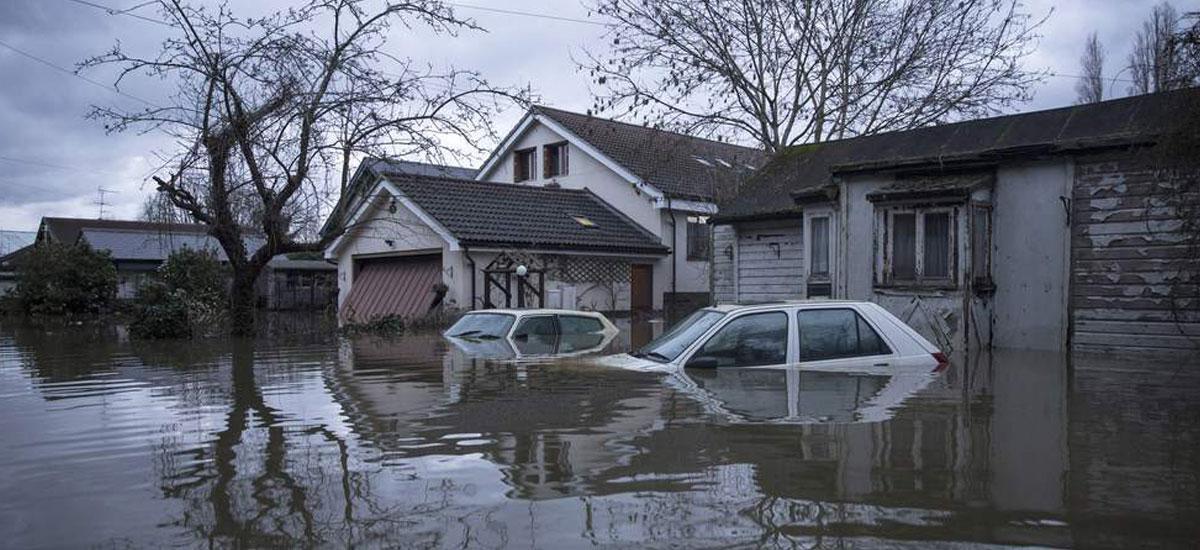 Before: Flood Damage