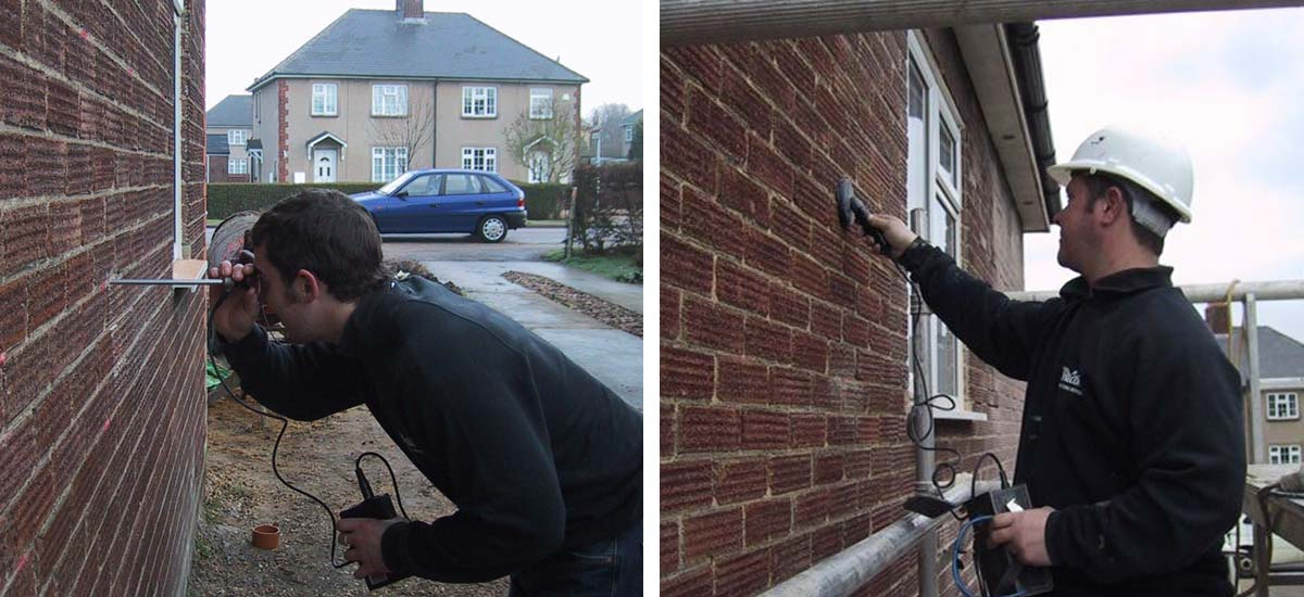 Left: Endoscope Survey / Right: Cavity Wall Tie Detector